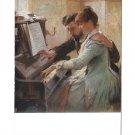 At The Piano Albert Edelfelt Painting Goteborgs Museum Heckscher Sweden Postcard