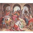 Nibelungenlied Schnorr von Carolsfeld Painting Kriemhilde Kills Hagen Postcard