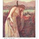 Deutscher Schulverein Kunstler Von Scheffel Ekkehard Proud Woman Stolze Frau Art Postcard