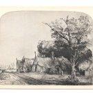 Rembrandt Landscape Gabled Cottages Etching National Gallery of Art Washington DC Postcard