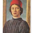 Botticelli Portrait of a Young Man Hanfstaengl nr 335 Kunstlerkarte Art 4X6 Postcard