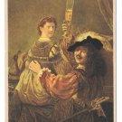 Rembrandt Self Posrtraint with Saskia Art Postcard N Gestel & Zn Eindhoven No 6 Sepia