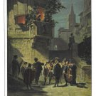 Artist Carl Spitzweg Painting Serenade Standchen Germany EBD 1471 Postcard