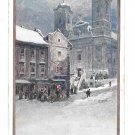 Artist Friedrich Frank Christmas Winter Scene Deutscher Schulverein Nr 1390 Postcard Postcard
