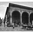 RPPC Italy Florence Piazza Signoria Loggia Orcagna Interdetta 1954 Innocenti Postcard 4X6