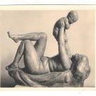 RPPC Sculpture Josef Mullner Mutter und Kind Wien Austria 4X6 Karl Kuhne Art Postcard