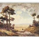Otto Pippel Painting Spatsommer in der Heide Landscape Sheep Germany 4X6 Art Postcard