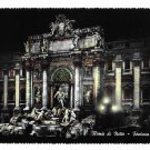 RPPC Italy Rome at Night Trevi Fountain M.M.R Bromostampa Torino 4X6 Glossy Postcard