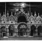 Italy Venice RPPC Basilica S Marco at Night Moonlight SBV Glossy 4X6 Postcard