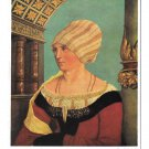Portrait Wife of Burgermeister Jacob Meyer Hans Holbein Hanfstaengl 4X6 Art Postcard