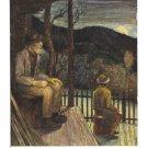 Feierabend Workdays End Sunset Matthaus Schiestl 1943 Austria 4X6 Art Postcard