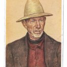 Rheinischer Bauer Farmer Else Van Der Velde 1942 Munich 4X6 Art Postcard