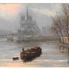 France Paris En Flanant Abside Notre Dame Cathedral Yvon 4X6 Art Postcard rd