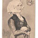 R. Beyschlag Young Woman Costume Heraldic Crest F A Ackermann Art Postcard