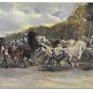 Der Pferdemarkt Horse Fair Artist Rosa Bonheur Posted 1948 Stengel Art Postcard