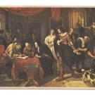 Artist Jan Steen The Marriage Contract Dutch Painter Hague Art Postcard