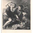Artist B E Murillo Painting The Cake Eaters Children Noyer Art Exposition Postcard