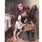 Artist Knut Ekwall Zerrissene Hose Woman Mending Childs Torn Pants Salon JPP Postcard