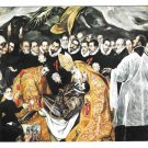 El Greco Burial of Count of Orgaz Detail Santo Tome Church Vintage Art Postcard 4X6