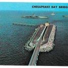 VA US Route 13 Cheaspeake Bay Bridge Tunnel  Man Made Island Vtg Postcard