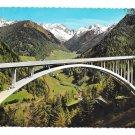 Austria Italy Brenner Autobahn Arch Bridge Highway Alps Tyrol 4X6 Postcard