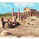 Africa Tunisia Dougga Thugga Ancient Roman Ruins Archaeology Vintage 4X6 Postcard