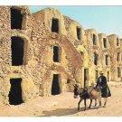 Africa Tunisia Medenine Ghorfas Berber Storage Rooms Donkeys TANIT Postcard 4X6