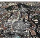 Italy Rome Vatican St Peter's Aerial View Piazza S Pietro Terni 4X6 Postcard