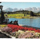 Austria Tryrol Schwarzsee Lake bei Kitzbuhel mit Wildem Kaiser Angerer 4X6 Postcard
