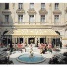Hotel InterContinental Paris France Garden Court Cafe Restaurant Vintage 4X6 Postcard