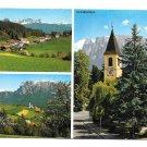 Italy South Tyrol Ritten Klobenstein Collalbo JF Amonn Multiview 4X6 Postcard