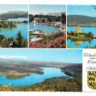 Austria Karnten Carinthia Lake Urlaubsgrusse Worthersee Multiview 4X6 Postcard