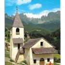 Italy St Cyprian Chapel Tires am Rosengarten Dolomites Alps Church J F Amonn 4X6 Postcard