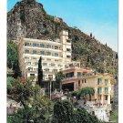 Italy Sicily Taormina Messina Hotel Mediterranee Sagep 4X6 Postcardostcard