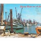 Shrimip Boats are a comin' Harbor Key West Florida Marty Gold Photographer Postcard