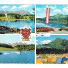 Austria Schwarzsee Lake Kitzbuhel Tyrol Alps Multiview Watersports Camping 4X6 Postcard