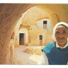 Africa Tunisia Matmata Berber Man Cave Dwellings Underground Troglodyde 4X6 Postcard