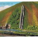 Utah Devils Slide Weber Canyon Limestone Channels Vntg Linen Postcardd