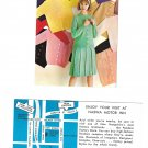 Advetising Pandora Factory Store Manchester NH NASWA Motor Inn Map Postcard