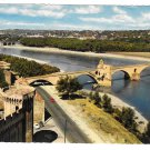 France Avignon Pont Saint Benezet Wooden Bridge Rhone River 4X6 Postcard
