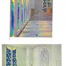 France Chapelle du Rosaire Vence Artist Henri Matisse Interiors 2 4X6 Postcards
