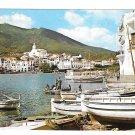 Spain Catalonia Cadaqués Playa Poal Boats Costa Brava Panorama 4X6 Postcard