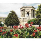 France Montpellier Chateau D'Eau du Peyrou Garden E.K.B. 9419 YVON Vintage 4X6 Postcard