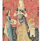 France Musee de Clunty Dame a la Licorne Lady Unicorn Detail L'Odorat 4X6 Postcard