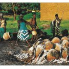 Africa Potteries Cooking Aftique en Couleurs IRIS Postcard 4X6