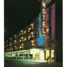 NJ Atlantic City The Empress Motel Night View Boardwalk at Michigan Ave Bill Bard Postcard