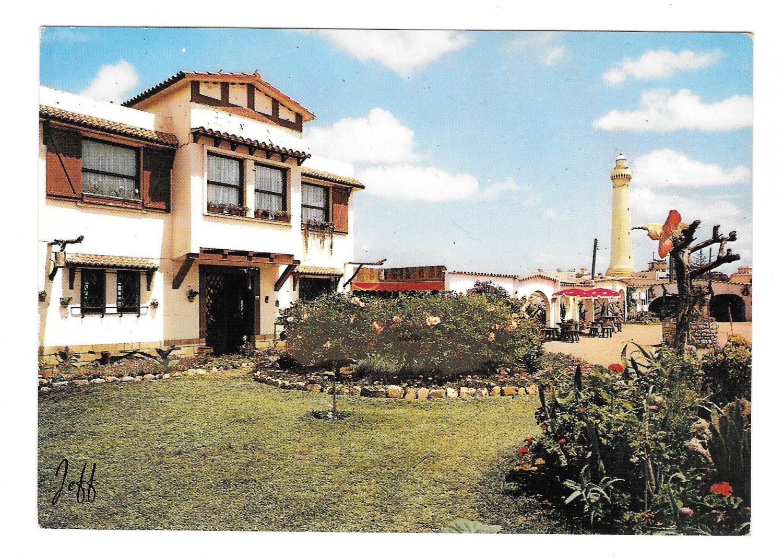 Casablanca Morocco Le Cabestan Restaurant Phare El Hank Lighthouse 4X6 JEFF Postcard