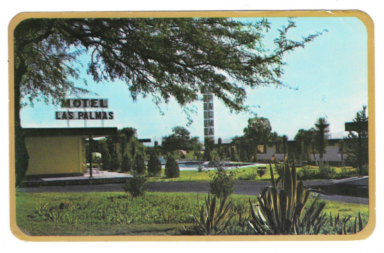 Mexico Matehuala Las Palmas Motel Vintage Glossy Postcard