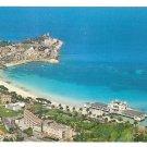 Italy Sicily Palermo Mondello Panorama Coastal Beach Resort 4X6 Postcard