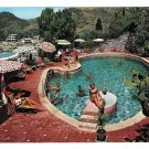 Italy Sicily Taormina Hotel Mediterranee Bathers Swimming Pool Resort 4X6 Postcard